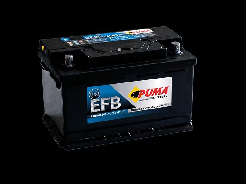 แบตเตอรี่รถยนต์ PUMA START STOP รุ่น EFB LN3