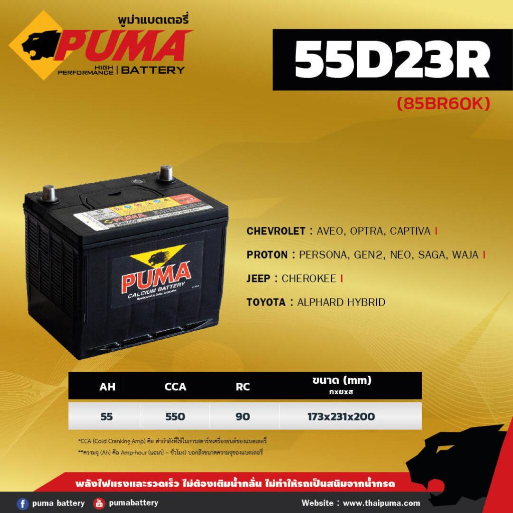 แบตเตอรี่ PUMA 55D23R