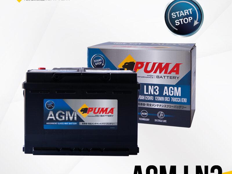 แบตเตอรี่รถยนต์ PUMA AGM LN3 Setbox