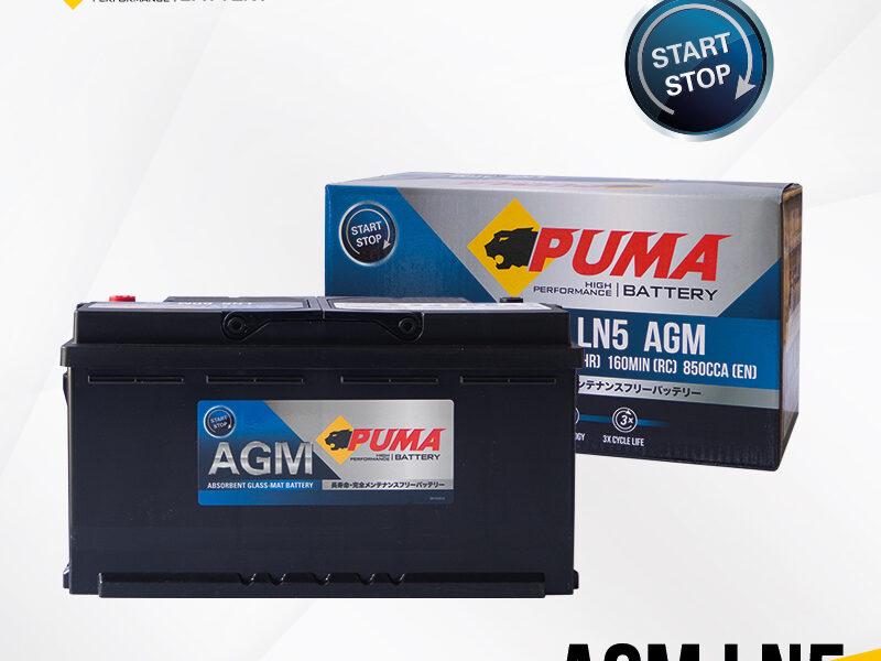 แบตเตอรี่รถยนต์ PUMA AGM LN5 Setbox