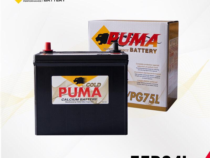 แบตเตอรี่รถยนต์ PUMA รุ่น 55B24L (PG75L) setbox
