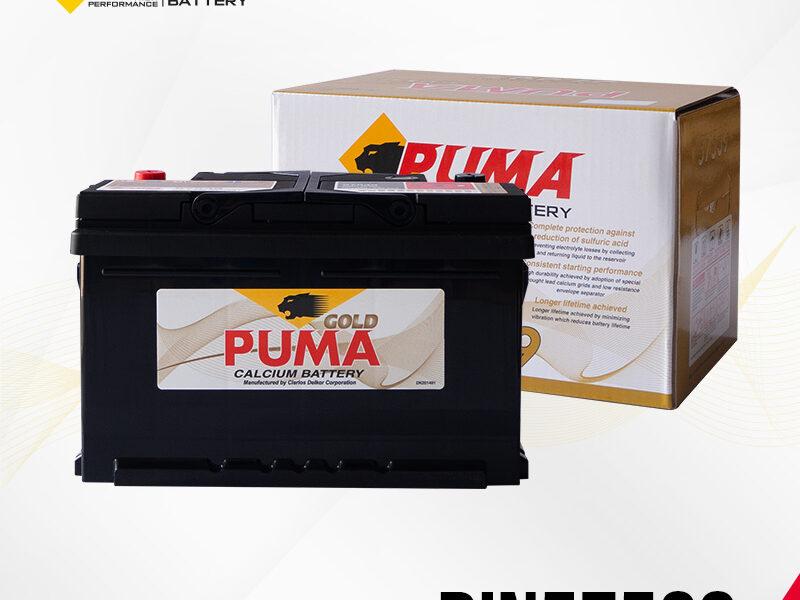 แบตเตอรี่รถยนต์ PUMA รุ่น DIN57539 boxset