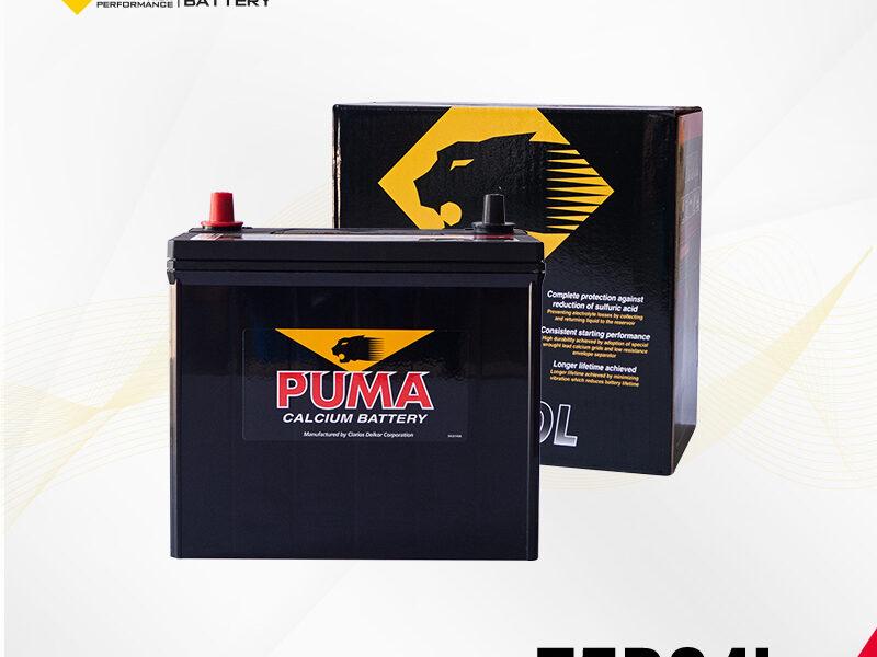 แบตเตอรี่รถยนต์ PUMA รุ่น 75B24L setbox