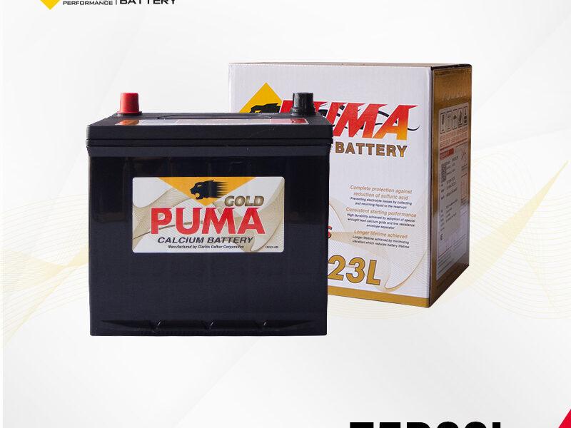 แบตเตอรี่รถยนต์ PUMA รุ่น 75D23L setbox