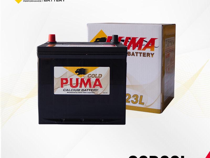แบตเตอรี่รถยนต์ PUMA รุ่น 80D23L setbox