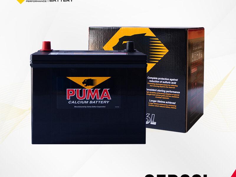 แบตเตอรี่รถยนต์ PUMA รุ่น 95D26L setbox